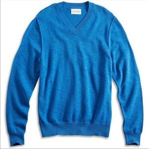 Lucky Brand royal blue v-neck long sleeve sweater